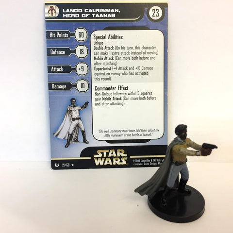 Star Wars Universe #21 Lando Calrissian, Hero of Taanab (R) Miniature
