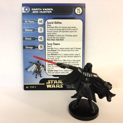 Star Wars Universe #37 Darth Vader, Jedi Hunter (R) Miniature