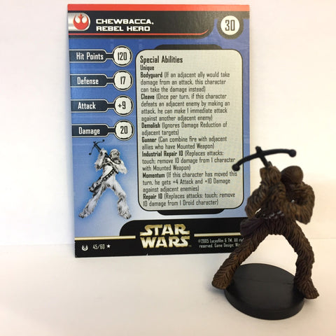 Star Wars Universe #45 Chewbacca, Rebel Hero (R) Miniature