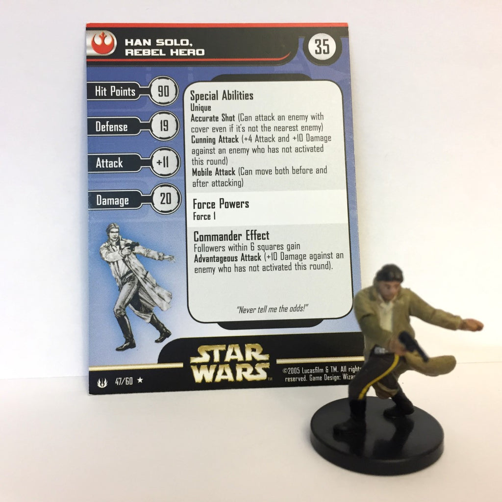 Star Wars Universe #47 Han Solo, Rebel Hero (R) Miniature