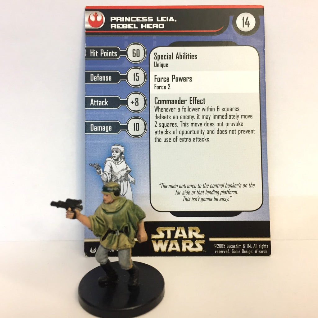 Star Wars Universe #50 Princess Leia, Rebel Hero (VR) Miniature