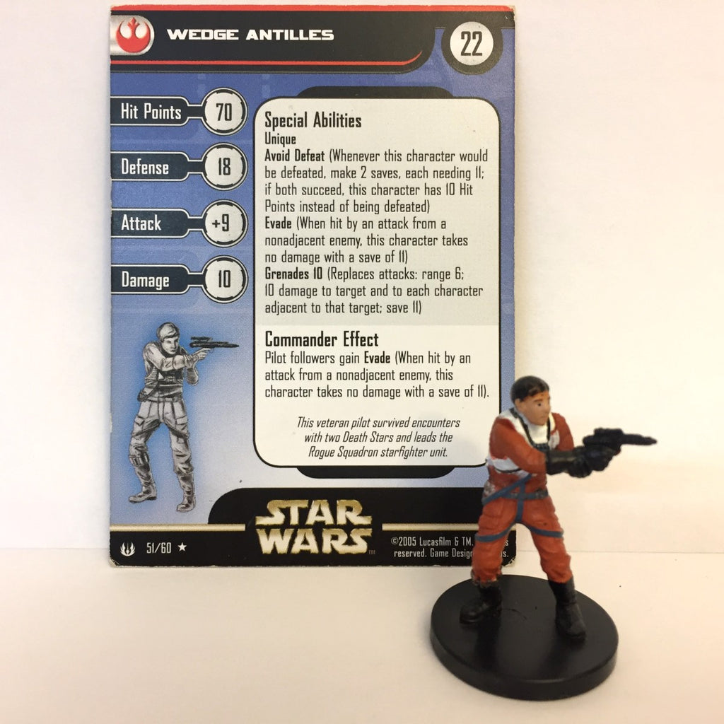 Star Wars Universe #51 Wedge Antilles (R) Miniature