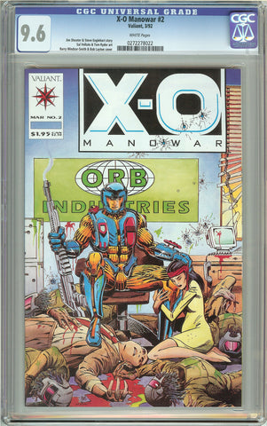 X-O Manowar #2 (1992) CGC 9.6 White Pages 0272278022
