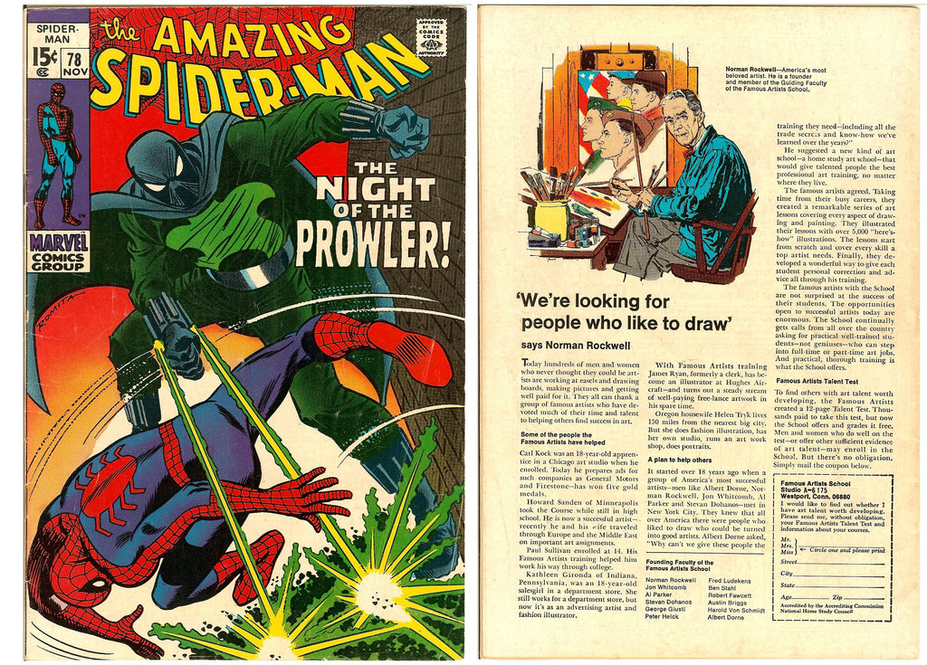 Amazing Spider-Man #78 (1969) FN 1st App. The Prowler