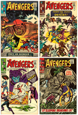 Avengers Comics ( Lot of 4 ) Vintage 1965-67 FN 6.0
