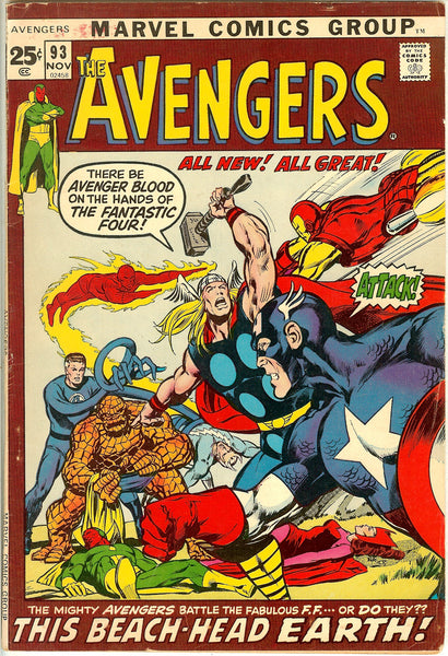 Avengers Comics ( Lot of 4 ) Vintage 1970-72 VG+ to FN+
