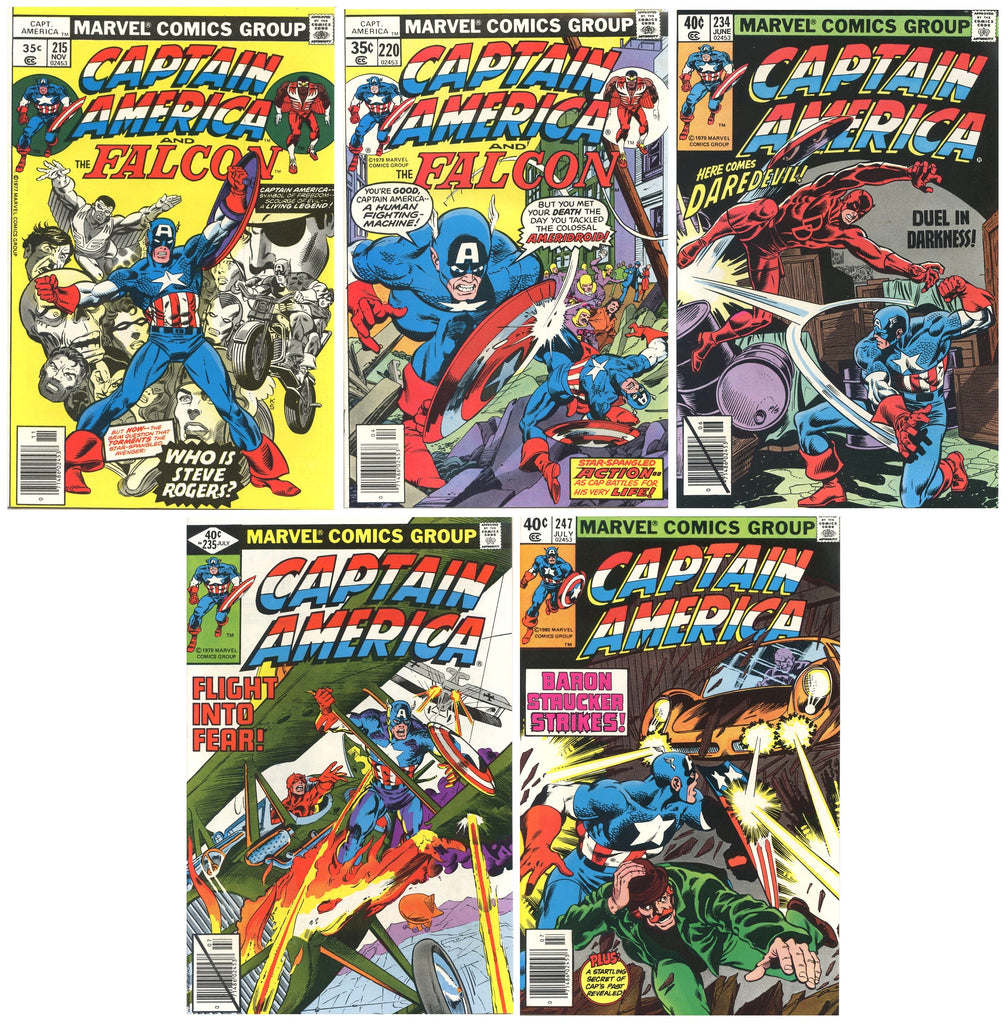 Captain America Comics ( Lot of 5 ) 1978-80 Vintage High grade lot 9.2 or better