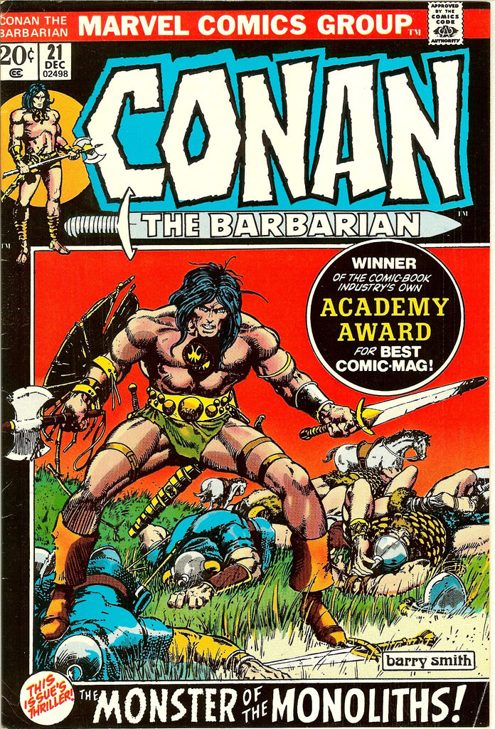 Conan the Barbarian #21 (1972) VF- 7.5