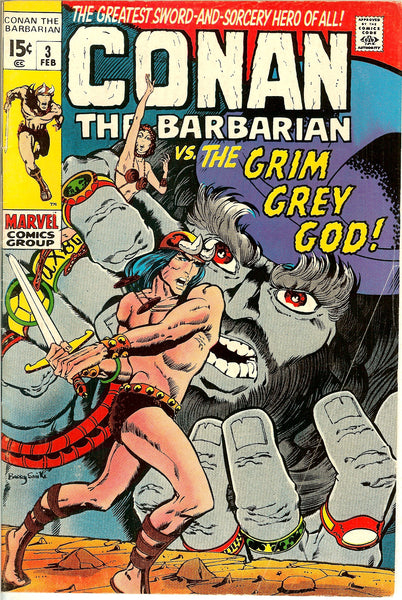 Conan the Barbarian #3 (1970) FN- 5.5
