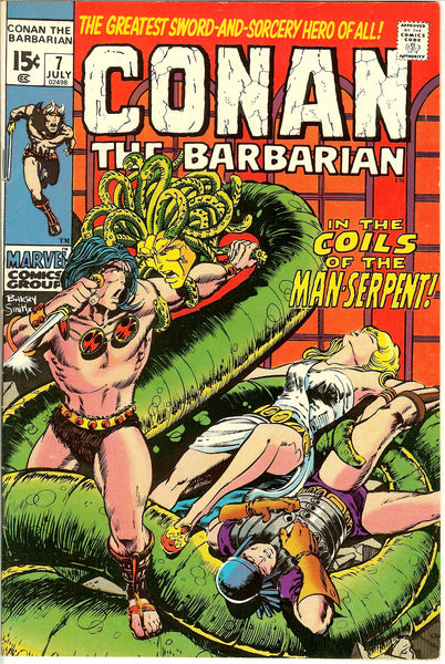 Conan the Barbarian #7 (1971) VF 8.0