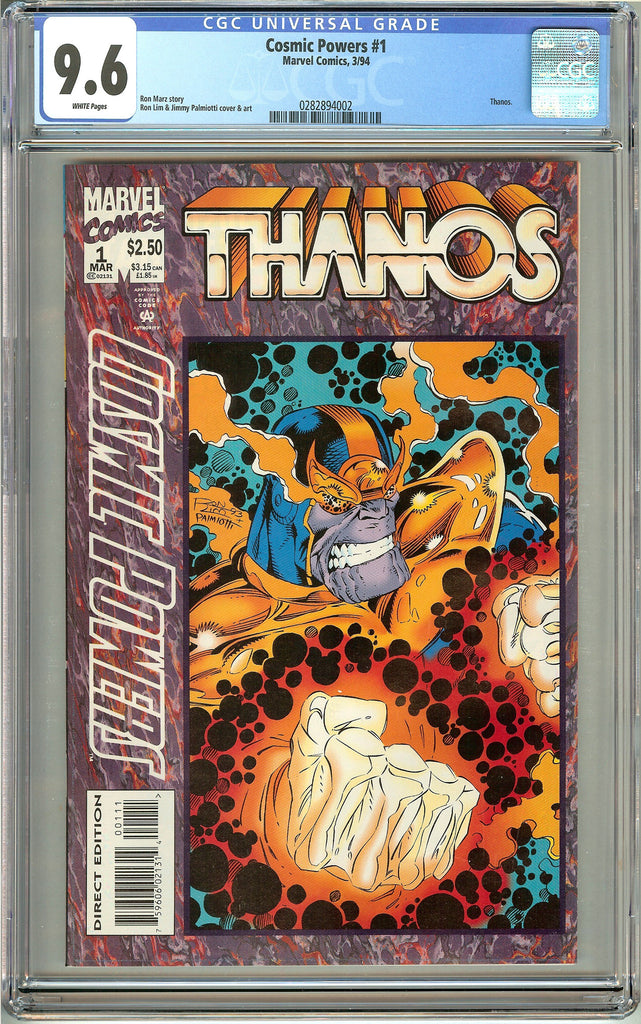Cosmic Powers #1 Thanos (1994) CGC 9.6 White Pages 0282894002