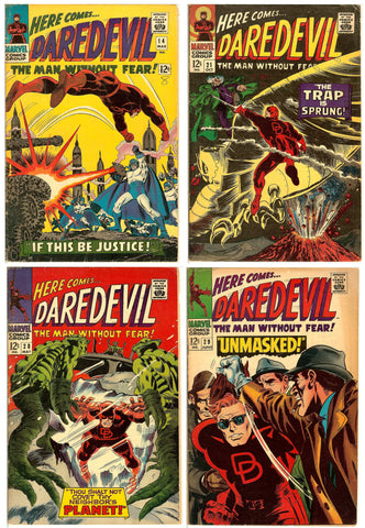 Daredevil Comics ( Lot of 4 ) Vintage 1966-67 FN 6.0