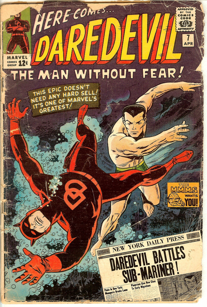 Daredevil #7 Vintage Comic 1965 GD 2.0