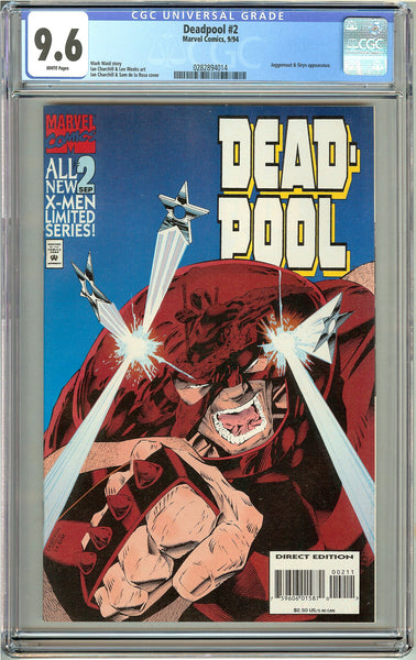 Deadpool #2 (Limited Series 1994) CGC 9.6 White Pages 0282894014
