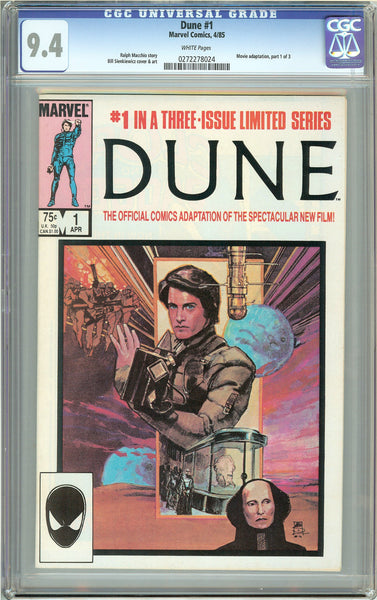 Dune #1 (1985) CGC 9.4 White Pages 0272278024