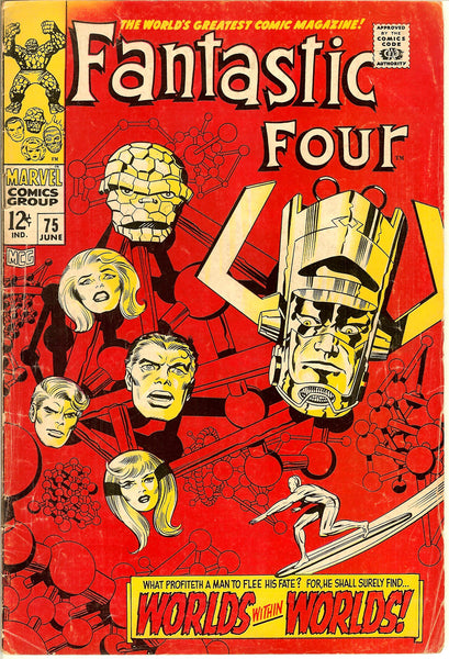 Fantastic Four Comics ( Lot of 4 ) Vintage 1967-68 Grades 4.0 to 5.0