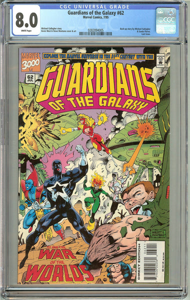 Guardians of the Galaxy #62 (1995) CGC 8.0 White Pages 0282894005 FINAL ISSUE