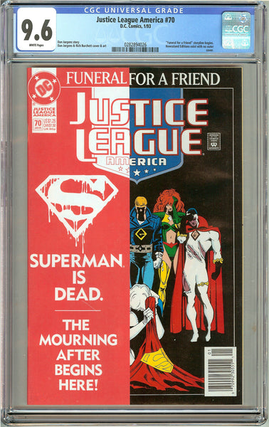 Justice League America #70 ( 1993 ) CGC 9.6 White Pages 0282894026