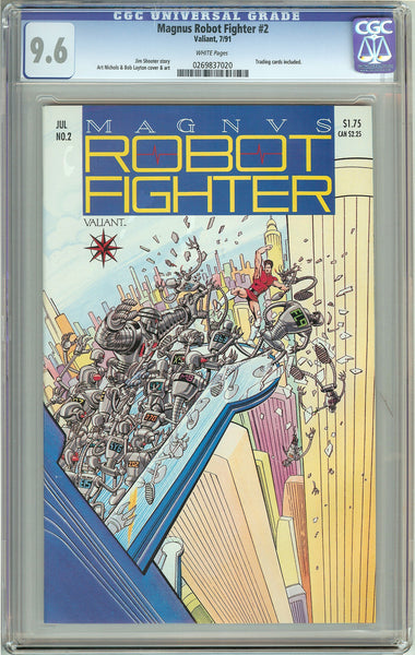 Magnus Robot Fighter #2 (1991) CGC 9.6 White Pages 0269837020