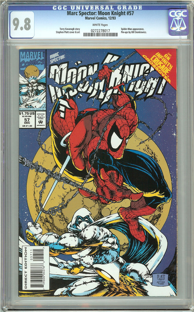 Marc Spector Moon Knight #57 (1993) CGC 9.8 White Pages 0272278017