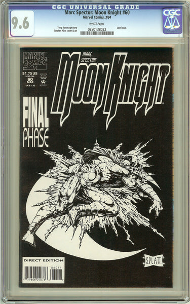 Marc Spector: Moon Knight #60 CGC 9.6 White Pages 0280138022 Stephen Platt