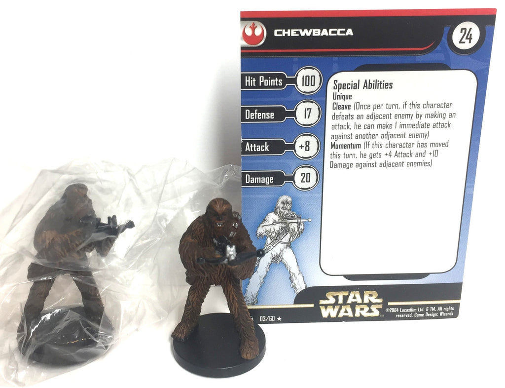 Star Wars Rebel Storm 03/60 Chewbacca (R) (2 Mini, 1 Card)