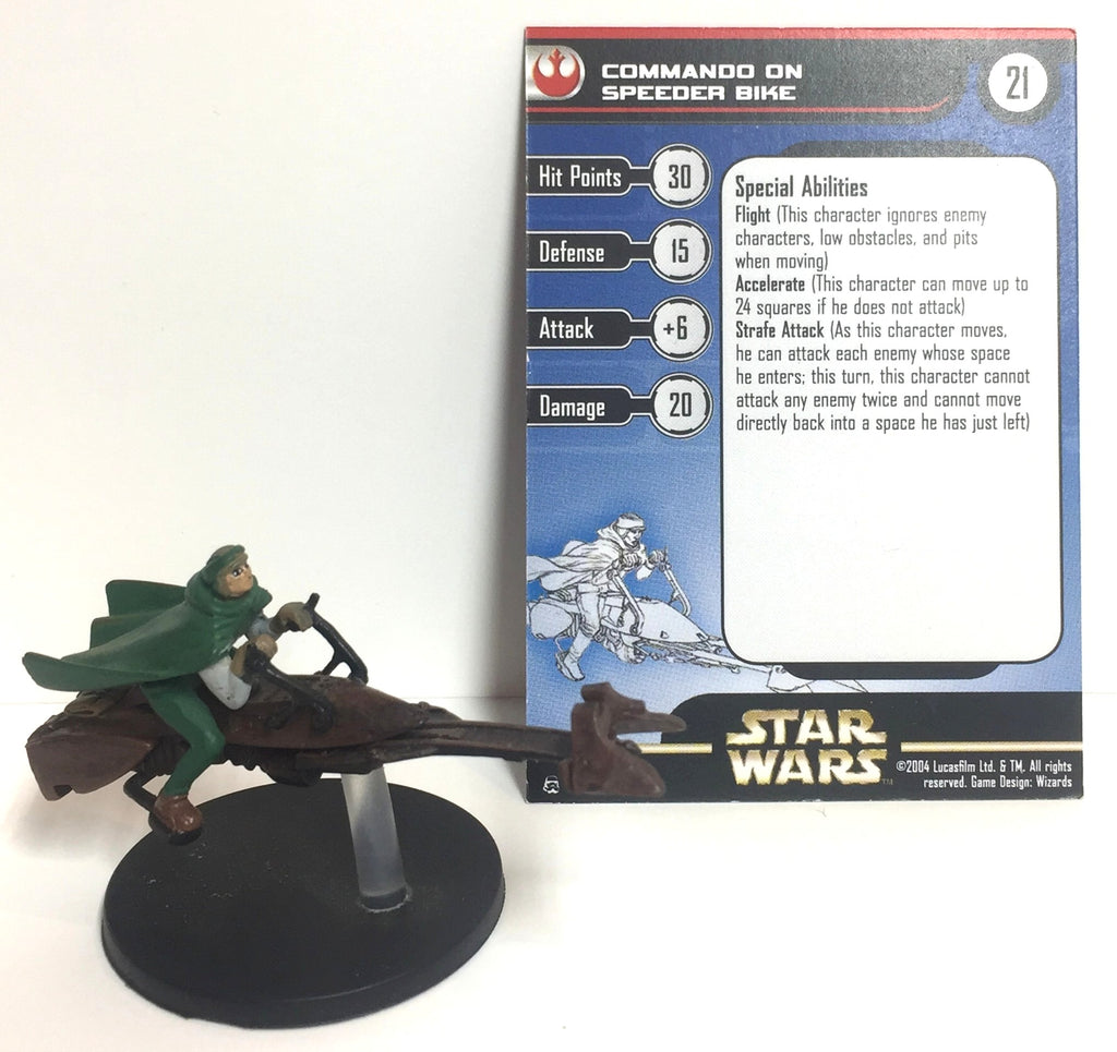 Star Wars Rebel Storm 04/60 Commando on Speeder Bike (VR) Miniature