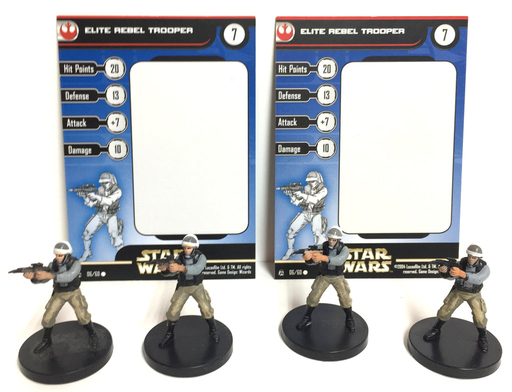 Star Wars Rebel Storm 06/60 Elite Rebel Trooper (4 mini, 2 Cards)