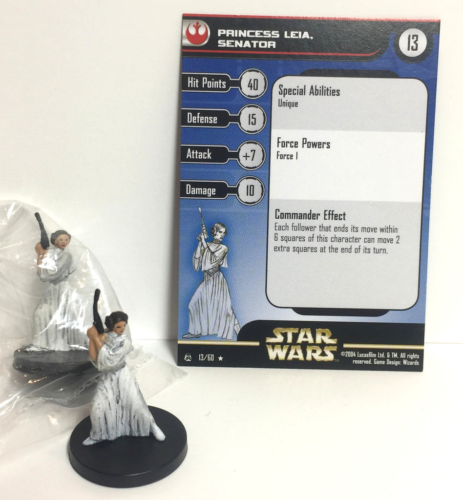 Star Wars Rebel Storm 13/60 Princess Leia (R) (2 Mini, 1 Card)