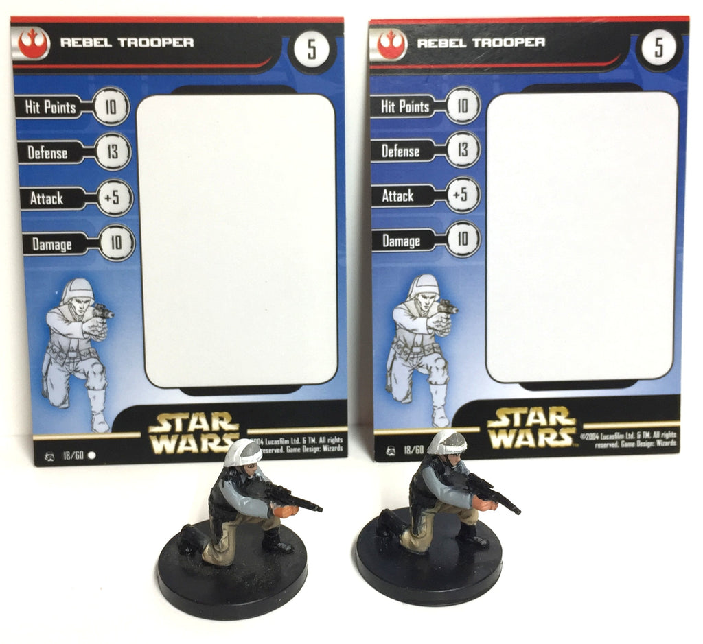 Star Wars Rebel Storm 18/60 Rebel Trooper (C) (2 Miniature Lot)