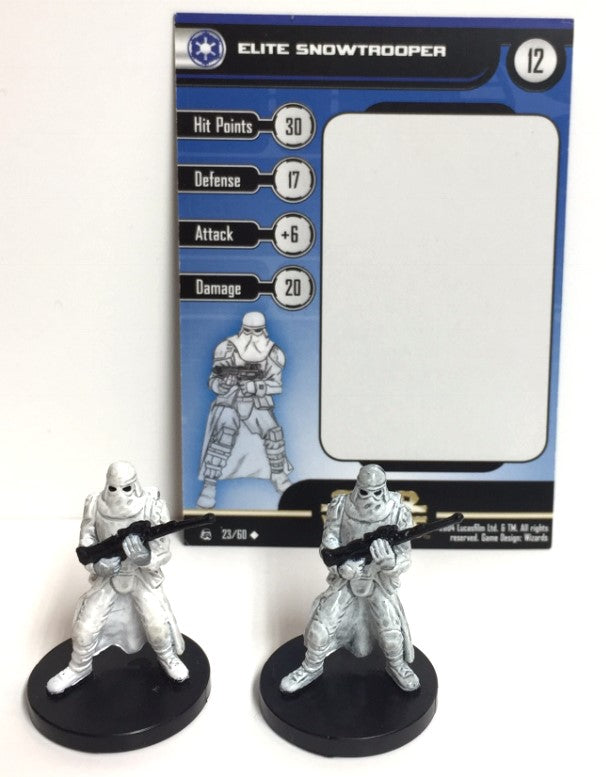 Star Wars Rebel Storm 23/60 Elite Snowtrooper (U) (2 Mini, 1 Card)