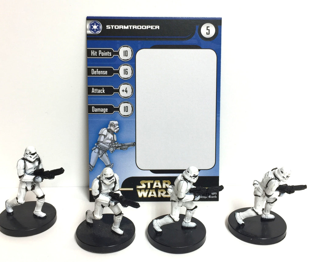 Star Wars Rebel Storm 38/60 Stormtrooper (4 mini, 1 Card)