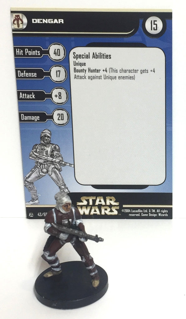 Star Wars Rebel Storm 43/60 Dengar (R) Miniature