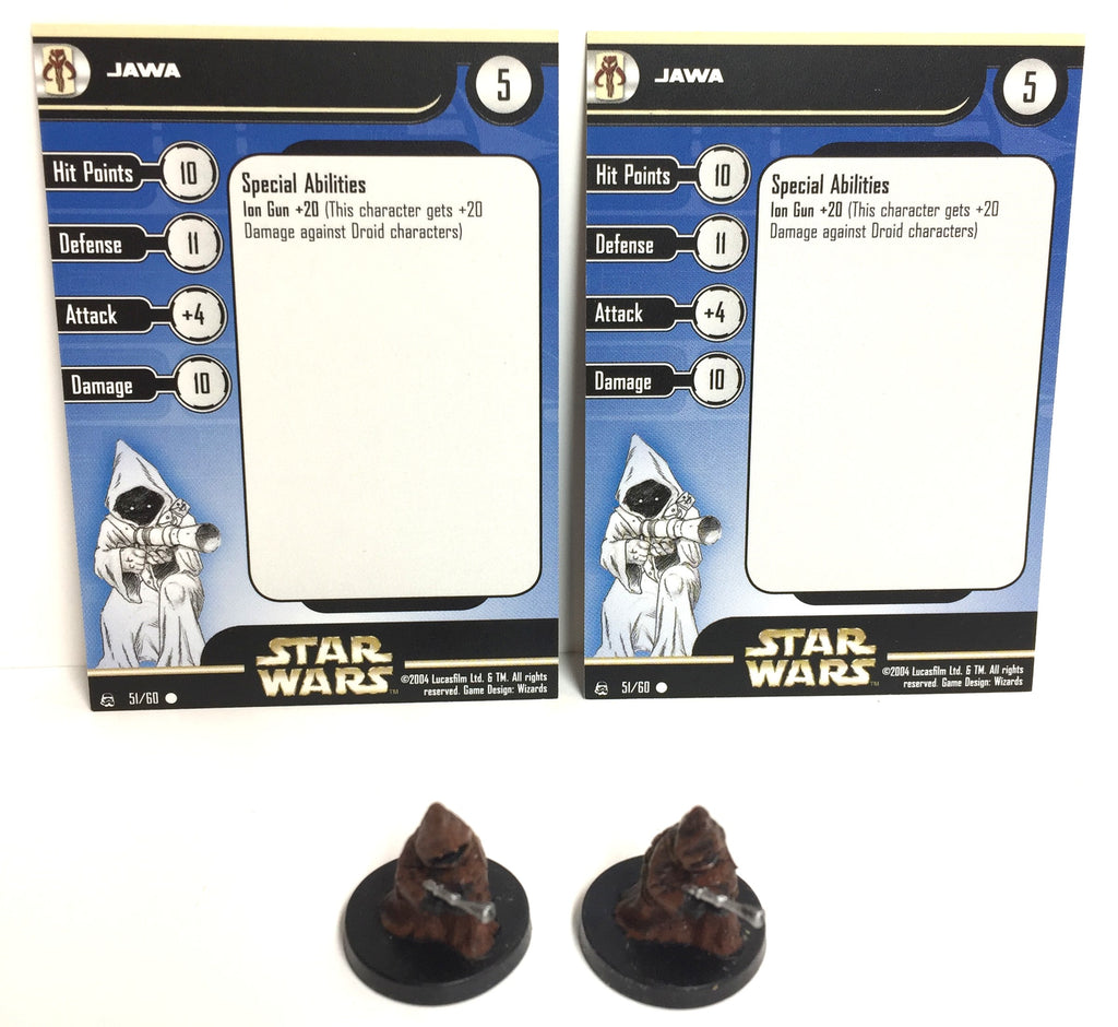 Star Wars Rebel Storm 51/60 Jawa (C) (2 Miniature Lot)