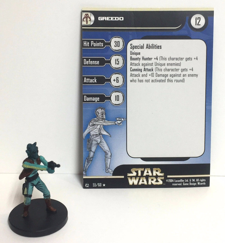 Star Wars Rebel Storm 55/60 Greedo (R) Miniature