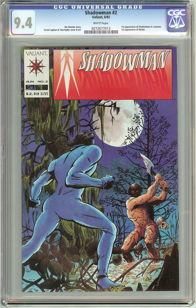 Shadowman #2 (1992) CGC 9.4 White Pages 0272677013