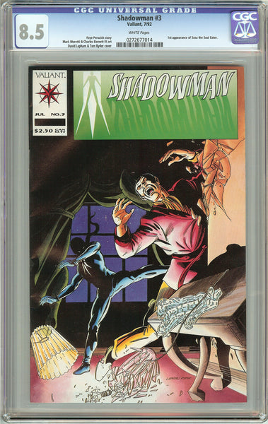 Shadowman #3 (1992) CGC 8.5 White Pages 0272677014