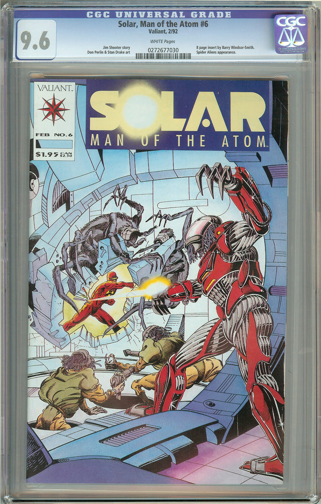 Solar Man of the Atom #6 (1992) CGC 9.6 White Pages 0272677030