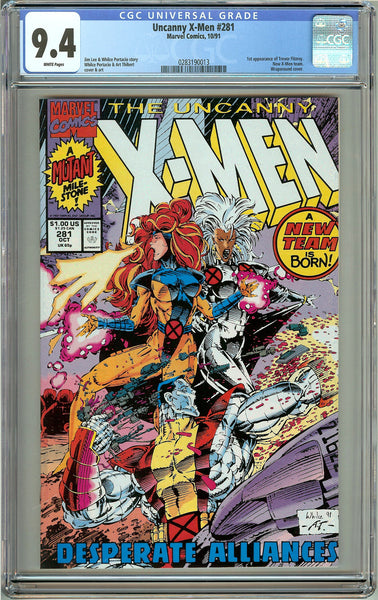 The Uncanny X-Men #281 (1991) CGC 9.4 White Pages 0283190013