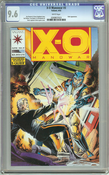 X-O Manowar #3 (1992) CGC 9.6 White Pages 0269837023