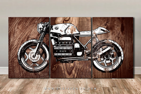 BMW Bike on CANVAS
