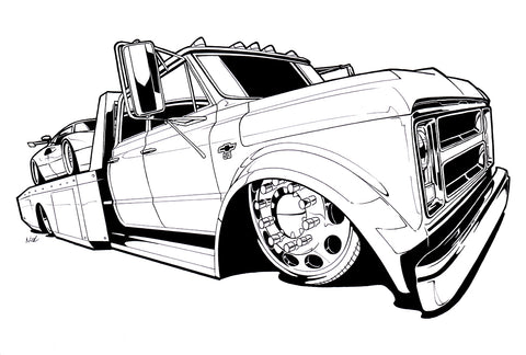 Flatbed Ink outline