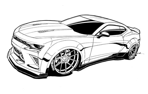 Camaro Ink outline