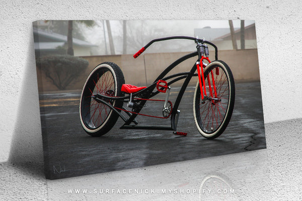 surfacedvd, rendering, surfacenick, nickcrouch, surface, automotive, truck, print, painting, minitruckin, minitruck, mini, lowered, canvas, bagged, bike, custom, custombike, beachcruiser, custombeachcruiser, customcruiser, custombicycle, bicycle,