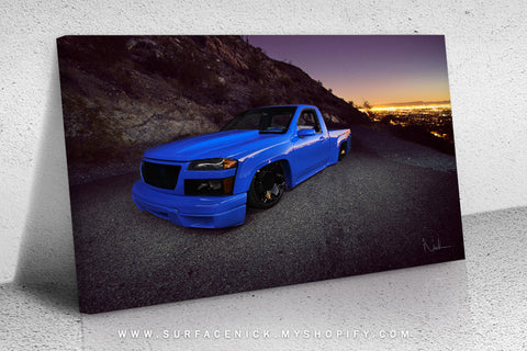 surfacedvd, rendering, nickcrouch, surface, car, automotive, truck, print, painting, minitruckin, minitruck, mini, lowered, canvas, bagged, pickup, custom, gmc, gmccanyon, canyon, chevy, chevycolorado, colorado,