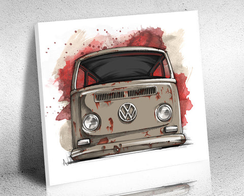 VW Bus Drawing