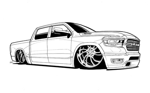 Dodge Ink outline