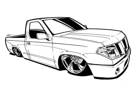 Nissan Ink outline