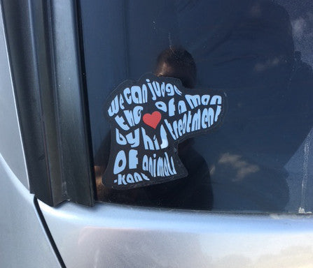 """Judge a Man's Heart"" Sticker"