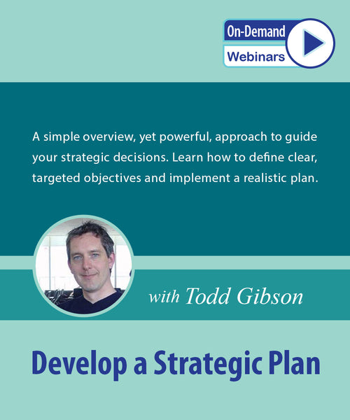 Develop A Strategic Plan